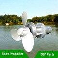 3 klingen Motor Boot Propeller Benzin Motor Außenborder Refit Kleine booster Für Gras Trimmer Pinsel Cutter CG520 CG430 GX35