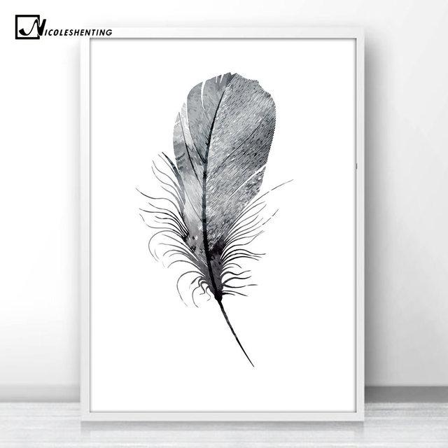 online shop bird sheep feather minimalist art canvas poster painting