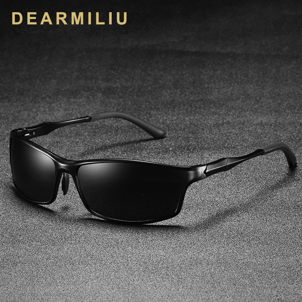 DEARMILIU Aluminum Magnesium Men's Sunglasses Polarized Coating Mirror Square Sun Glasses Male Eyewear Accessories For Men