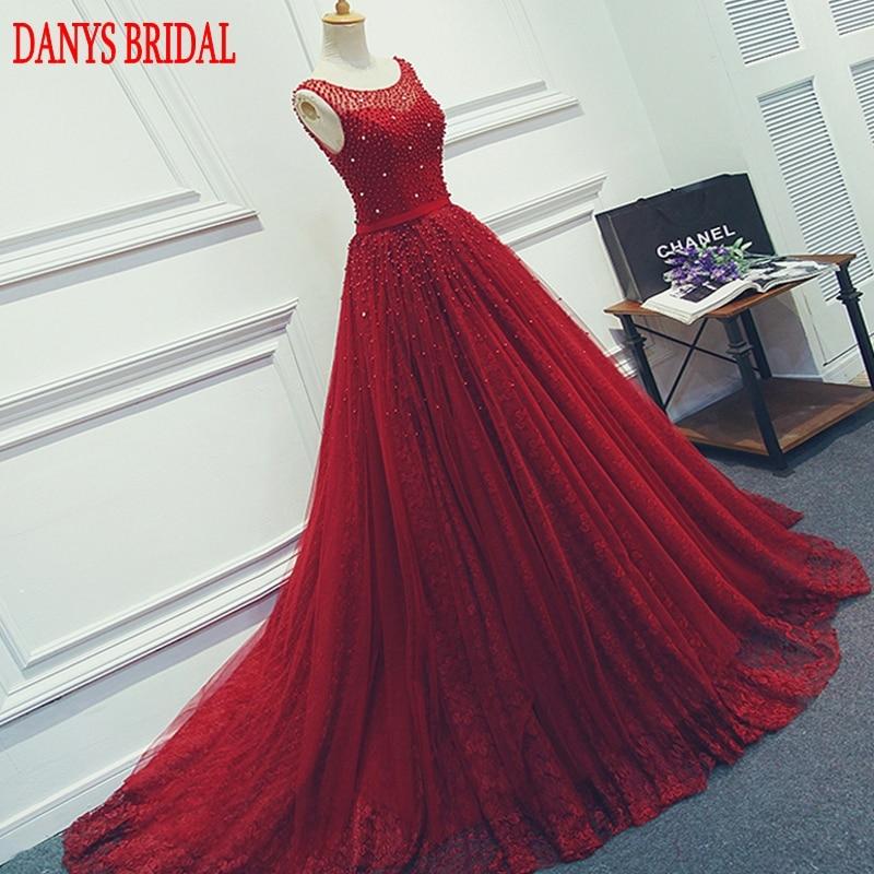 Crvena ili zelena Duga večernja haljina Party Beaded biseri Luksuzni - Haljina za posebne prigode - Foto 1