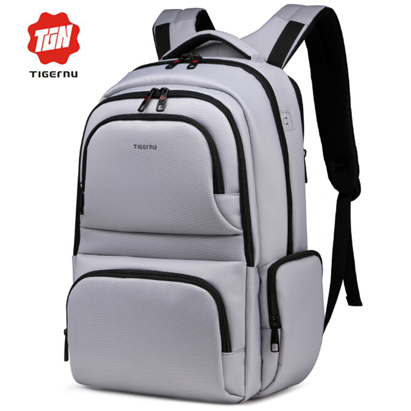 2017 New Tigernu Brand Waterproof Nylon Men's Backpacks Unisex Women Backpack Bag for 15.6 Laptop Notebook Bag Mochila Feminina