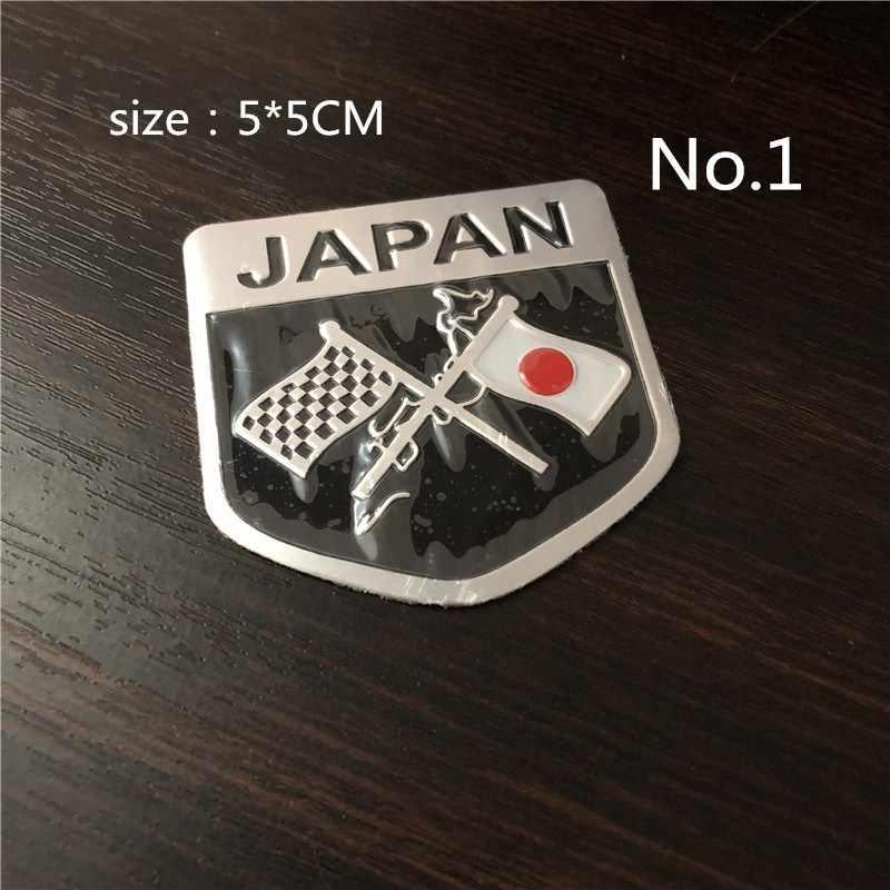JAPAN Japanese Flag Emblem Badge Car Styling Motorcycle Sticker Decal for SUZUKI YAMAHA Honda Toyota Nissan Mazda Mitsubishi