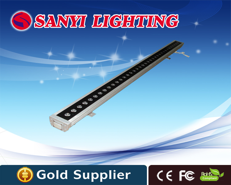 ФОТО New 1M 36W LED Wall Washer Landscape light AC 24V AC 85V-265V outdoor lights wall linear lamp floodlight 100cm wall washer