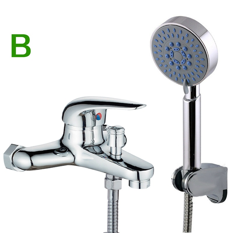 ᗐHuic Hot&Cold Water Brass Shower Mixer Faucet + Shower Handle with ...