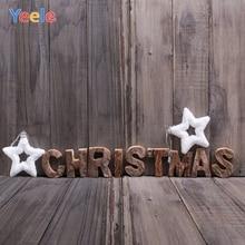Yeele Christmas Photocall Wood Grunge Texture Stars Photography Backdrops Personalized Photographic Backgrounds For Photo Studio