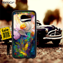 Papavero flower soft TPU edge phone cases for samsung s6 edge plus s7 edge s8 plus s9 plus note5 note8 note9 cover case pop art sad girl soft tpu edge mobile phone cases for samsung s6 edge plus s7 edge s8 plus s9 plus note5 note8 note9 case