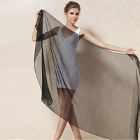 180 110 Cm Women 100 Pure Silk Scarf Ultra Thin Solid Color Luxury Silk Scarves Big