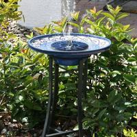 חיצוני שמש מופעל על אמבטיה ציפור מזרקת המים משאבה לברכה, גינה, אקווריום