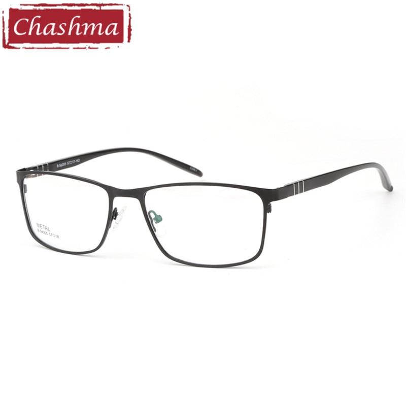 6bfdffcce Chashma Marca Grandes Homens Grandes Homens Óculos Armações de Óculos de  Liga Quadro Óculos De Dioptria Óptica para o Rosto Largo Largura Da Moldura  142mm