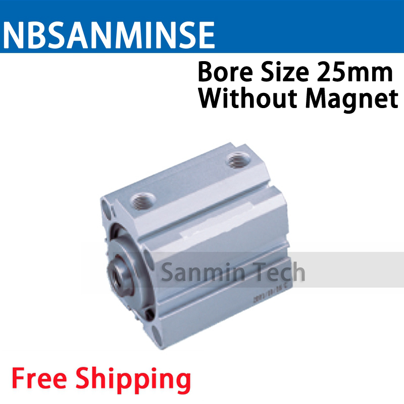 SDA Series Without Magnet 25mm Bore Size Compact Cylinder AirTAC Type Double Acting Cylinder Pneumatic Parts NBSANMINSE high quality double acting pneumatic gripper mhy2 25d smc type 180 degree angular style air cylinder aluminium clamps