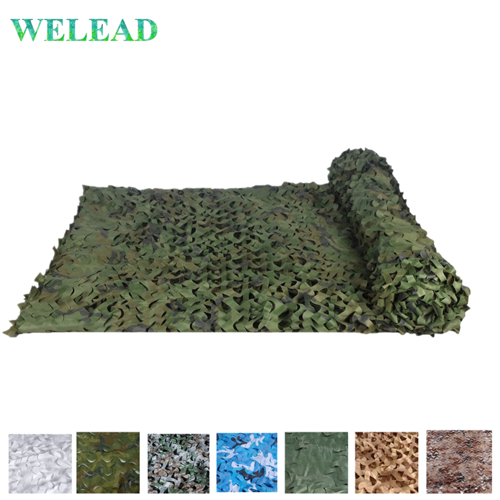 WELEAD 2x4 Simple Military Camouflage Nets for Hunting Camping <font><b>Outdoor</b></font> Tarp Camo Netting Awning for <font><b>Car</b></font> The Garden Beach <font><b>Tent</b></font> image