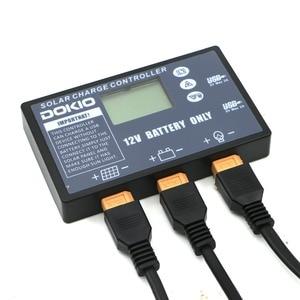 Image 3 - Dokio柔軟な折りたたみソーラーパネル専用12vバッテリー用usbソーラーコントローラ10A/20Aソーラーコントローラ