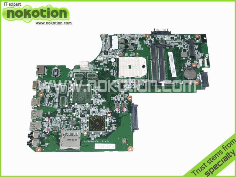 NOKOTION A000243670 DA0BD8MB8D0 laptop motherboard for toshiba S75D socket FS1 DDR3 MainboardNOKOTION A000243670 DA0BD8MB8D0 laptop motherboard for toshiba S75D socket FS1 DDR3 Mainboard