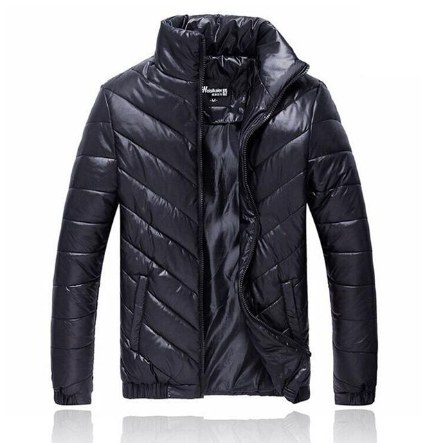 Homens Casaco de Inverno do Outono do Algodão Acolchoado Jaqueta de Outono Dos Homens Outwear Inverno Brasão Casual Casacos Plus Size M-5XL roupas