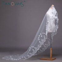 חתונת כלה 1.5 מטרים שכבה אחת ארוכה רעלה שנהב/לבן/אדום אביזרי חתונה אלגנטית ולוס דה Novia וואל דה mariee כלה