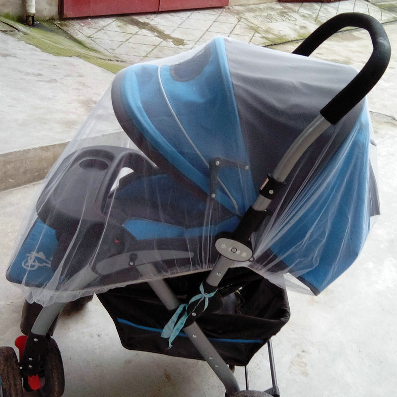 Crib Netting 2016 Cotton High-quality Baby Stroller Mosquito net Umbrella Stroller Accessories Enlarge Wholesale Hot Sale