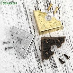 Image 5 - Bowarepro antika mücevher kutusu köşe ayak ahşap kutu köşe koruyucu dekoratif köşe mobilya Metal el sanatları 25mm 10 adet