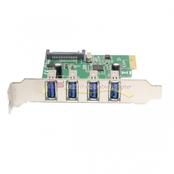 10pcs/CY Super Speed Low Profile Half Height 4 Ports USB 3.0 PCI E Express Interface Card