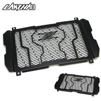 For Kawasaki Z900 2017 Black Motorcycle Radiator Guard Stainless Steel Water Cooler Grill Cover Bezel Protector