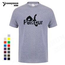 ddb3668c16102 Parkour camiseta hombres 2018 verano moda camiseta alta calidad Casual 16  colores impresión Camiseta cómoda algodón