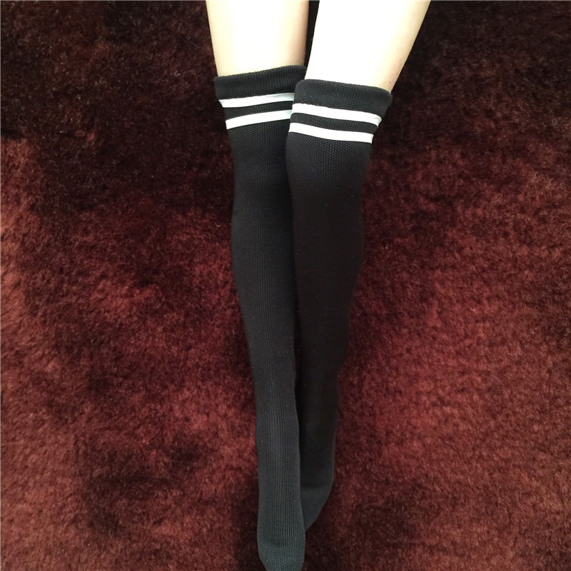 1/6 Scale Girl Soldier Sports socks Stockings High-rise stockings for PH UD LD JODOLL Body Model Action Figure Toys