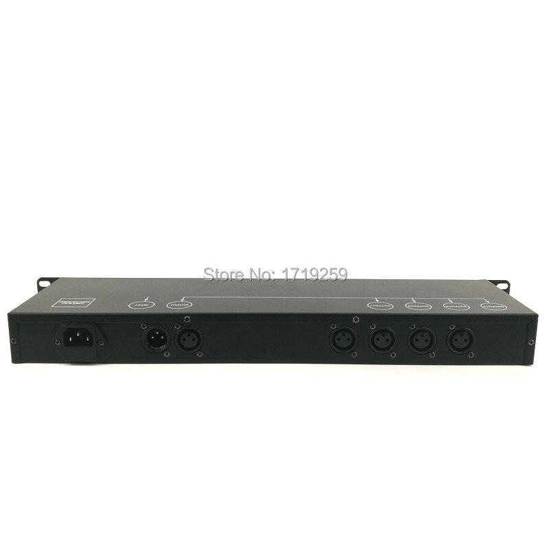 2pcs/lot Stage Lighting Controller DMX512 Splitter Signal Amplifier Splitter 4 Ways DMX Distributor Fast Shipping dmx512 digital display 24ch dmx address controller dc5v 24v each ch max 3a 8 groups rgb controller