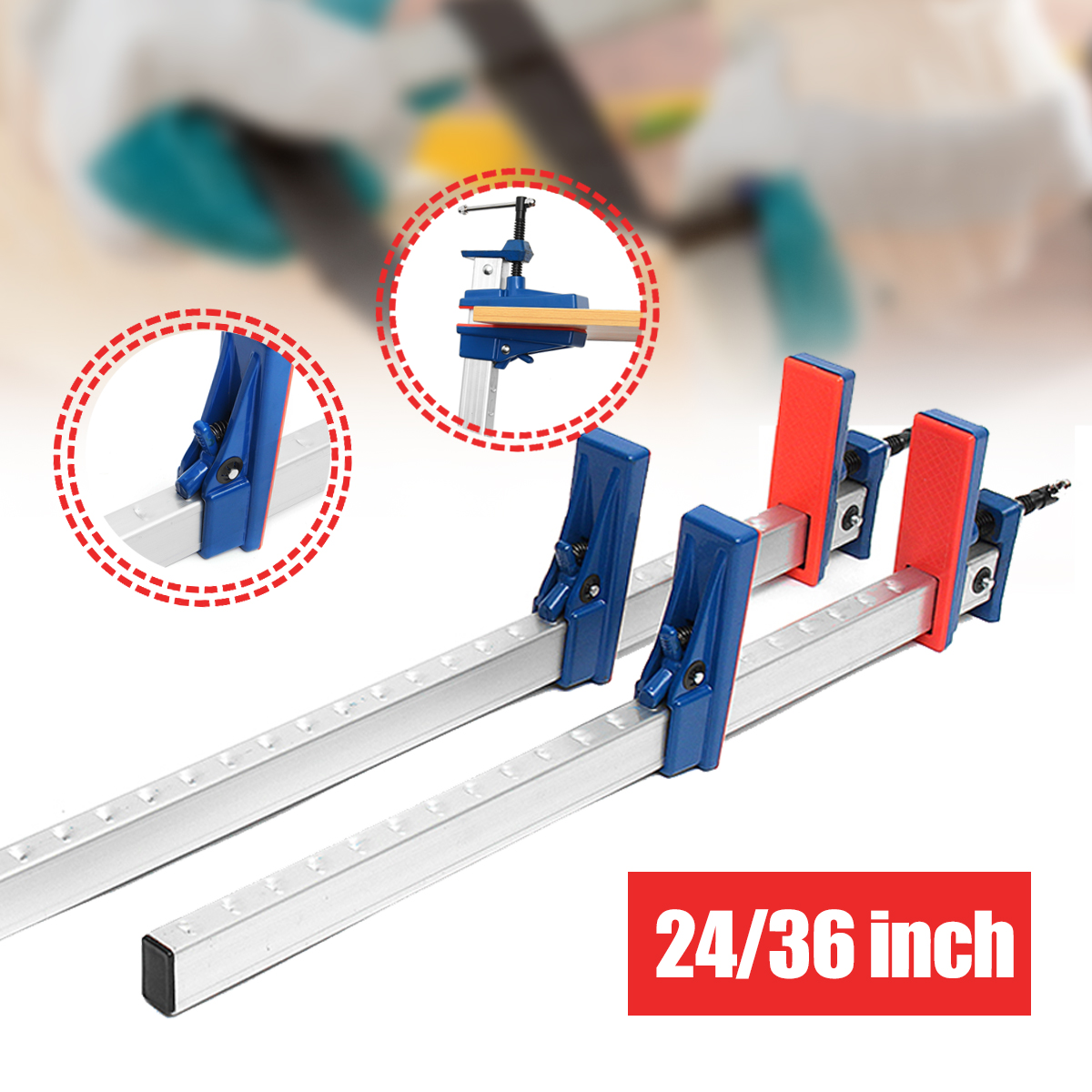 24'' 36'' Aluminum Heavy Duty F Clamps for Woodworking Clamp Holder Quick Release Clip Wooden Board Parallel Wood Tool heavy duty gun mount holder clip clamp for flashlight 25mm pair