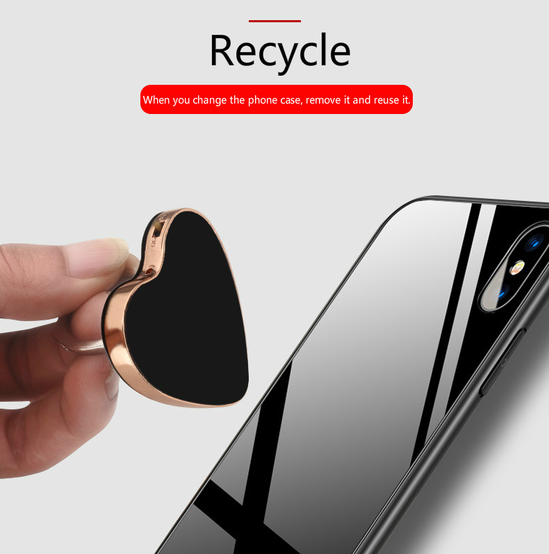 Love Ring Buckle Charging Lighter Mobile Phone Holder Cigarette Lighter Can Be Recycled Mobile Phone Bracket for iPhone Samsung