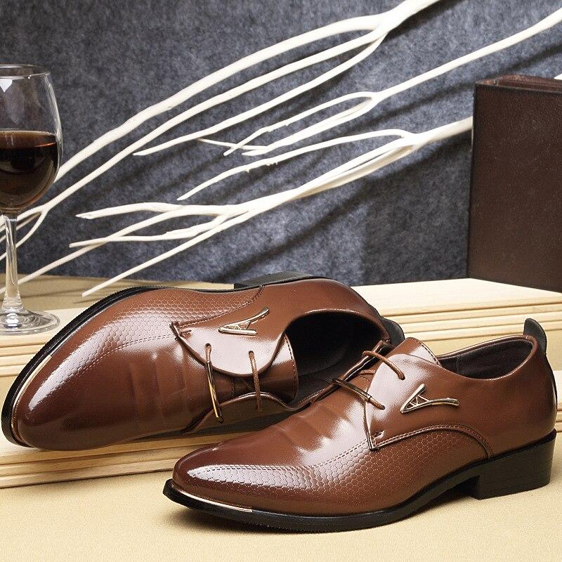 Dentelle Bout Casual Mocassins Caoutchouc Richelieu De Relief Black La Hommes Pu Mode Pointu 2018 Solide En up brown Cuir Pour Chaussures 5qA4RS3Lcj