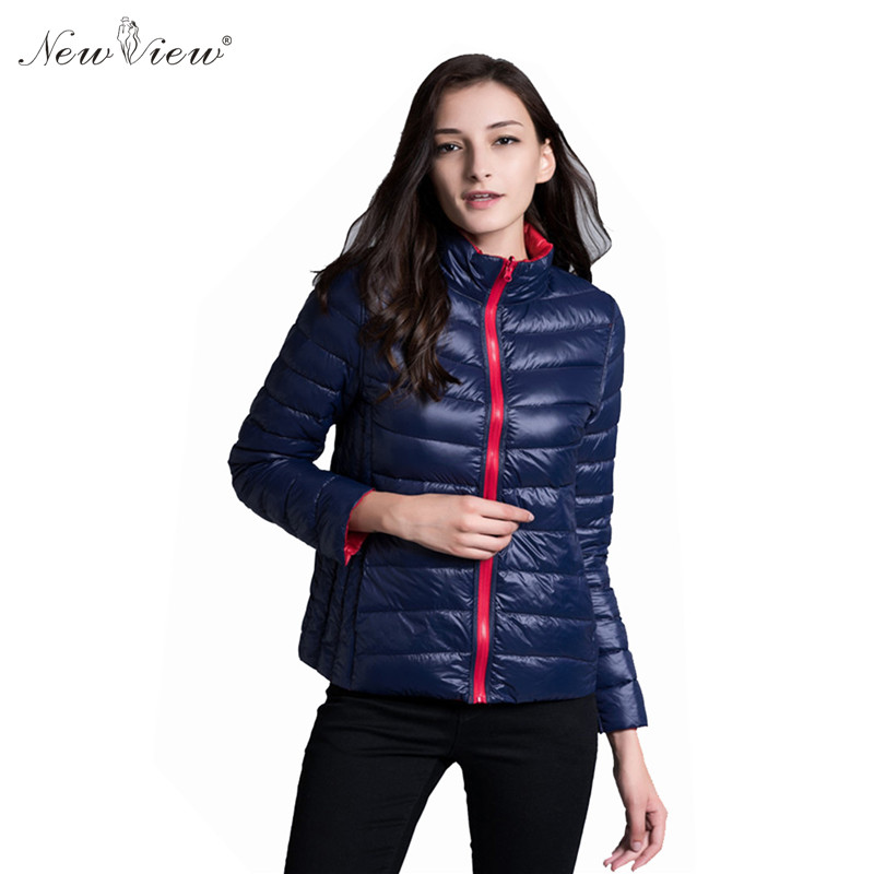 Down Coat Winter Slim Windbreak Warm Jacket Women Stand Collar Black Red Blue Ukraine Style Parka Female Clothing Plus Size XXXL