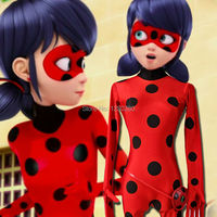 Miraculous Ladybug Cosplay Costume Printed Spandex Fabric Unisex Zentai Suit Halloween Cosplay Costume Custom Made Any