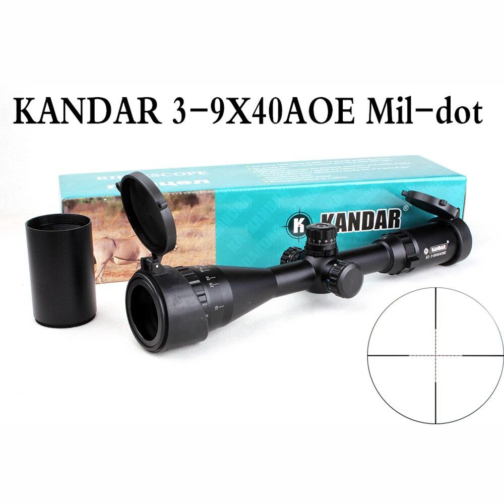KANDAR Tactical Hunting Rifle Scope 3-9X40 AOE Mil-dot Reticle RifleScope Locking Resetting Optical Sight 4 16x44 aoe tactical optical sight riflescope mil dot hunting rifle scope with sunshade