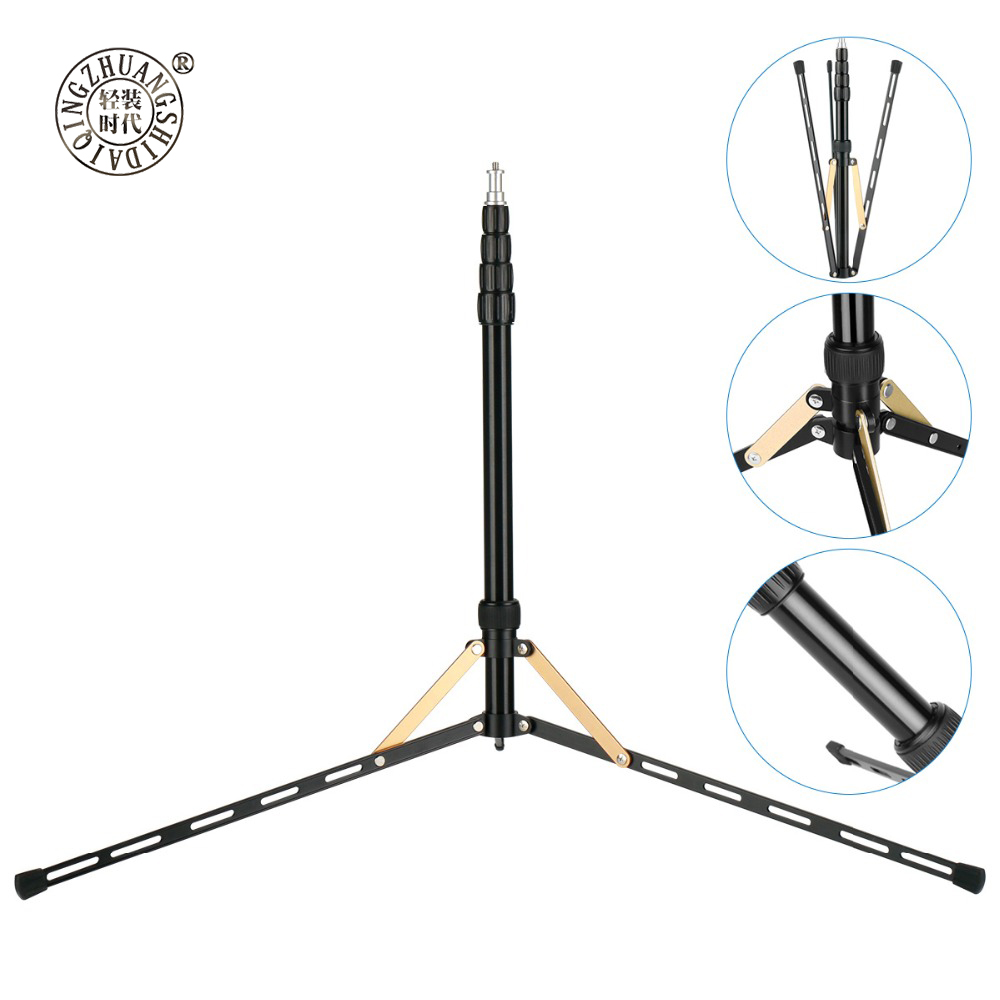 Portable 2.1M Extendable Tripod for <font><b>LED</b></font> Ring Light Softbox Foldable <font><b>LED</b></font> Video Light Stand Tripod Monopod for Living Broadcast image
