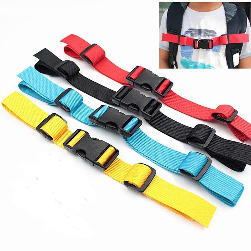 Adjustable Children's Outdoor Backpack Shoulder Strap Fixed Belt Strap Non-slip Pull Belt Bag Chest Strap 4 Colours To Ensure Smooth Transmission