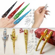 Long Nails Butterfly Flower Beads Traditional Props Peacock Dance Stage Performance(China)