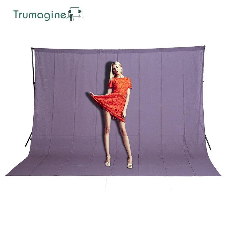 TRUMAGINE 3*3 M coton Photo fond photographie décors Fotografia photographie studio gris écran Chromakey pour l'éclairage