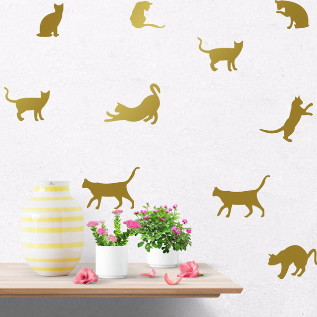 DIY Cats Wall Stickers Decals Kids Children Room Home Decoration Vinyl Wall  Art Stickers 6112401