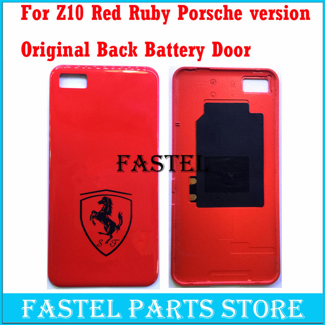 US $15 5 |For Blackberry Z10 Red Ruby Porsche version New Original Mobile  Phone Housing Back Battery door Cover case Free shipping-in Mobile Phone