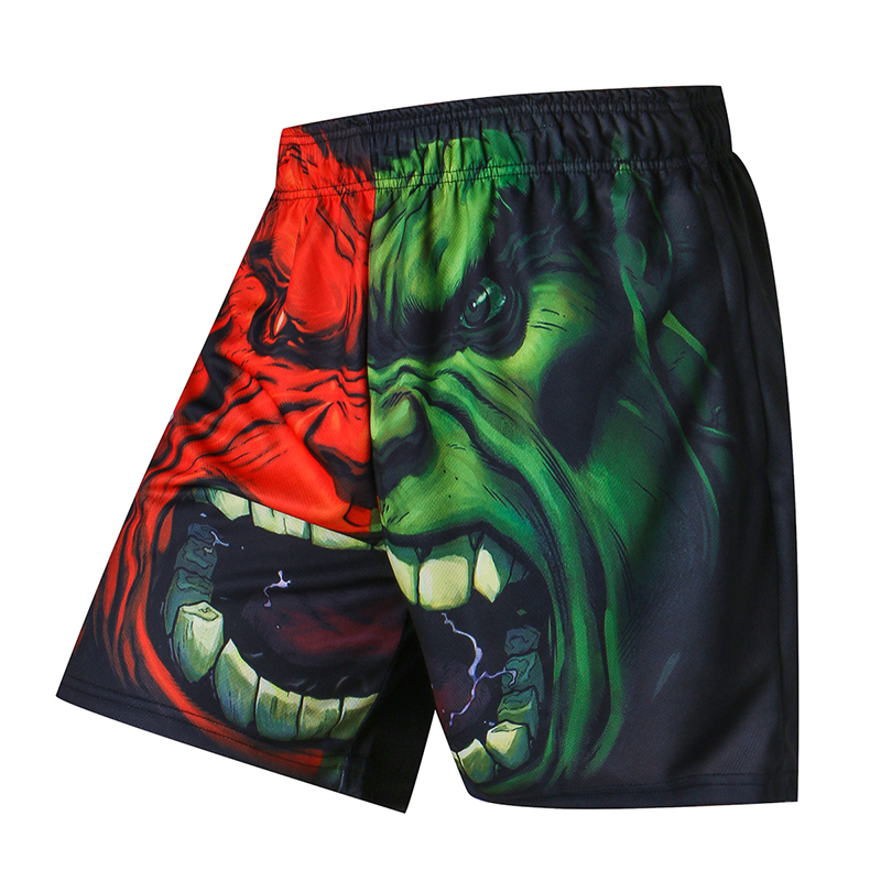 3D Printer Men Summer Causal Shorts Plus Size Breathable Beach Brand Clothing Loose Homme Shorts Quick Qry Polyester Trousers