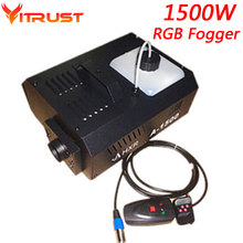 1500W RGB smoke fog generator LED Smoke machine 3in1 with remote control 1500w fog machine AC110-250V Free shipping стоимость