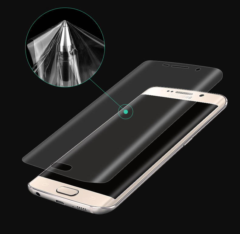 3D Curved Round Edge Full Cover Screen Protector Soft PET Protective Film For Samsung Galaxy S7 Edge S6 Edge S8 Note 8 Not Glass