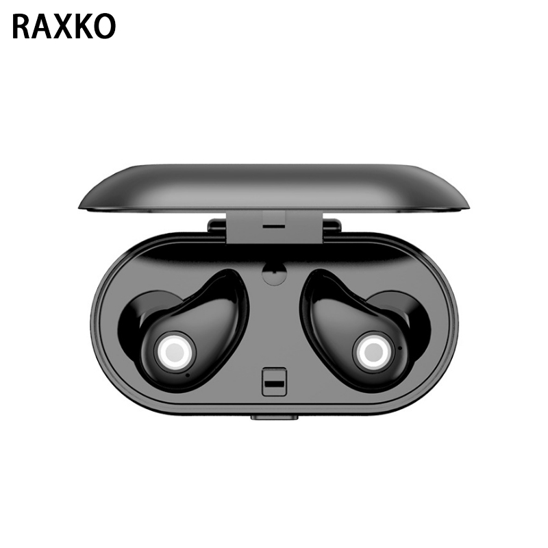 RAXKO High Quality Bluetooth Earphone Headphones with Microphone Wireless Earbuds Stereo Headset for iphone XR android huawei high quality wireless stereo headphones bluetooth headset earphone earbuds earphones with microphone for pc mobile phone music