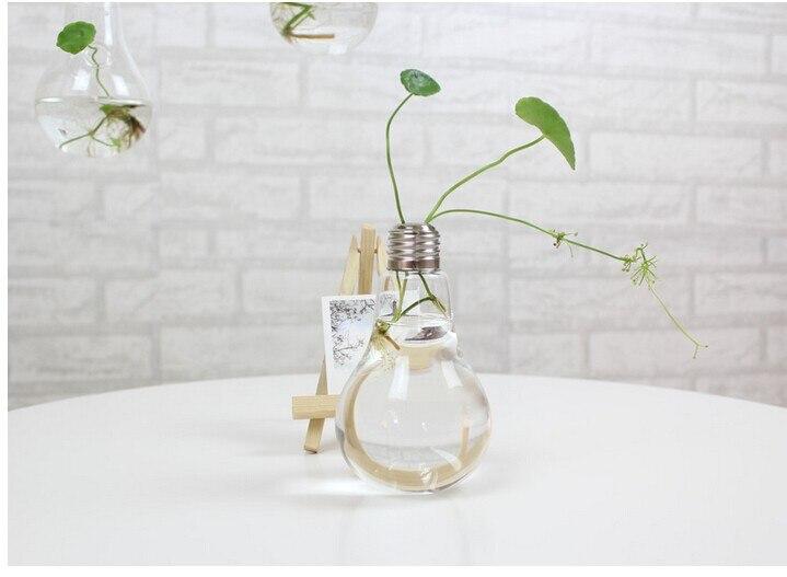 Ясный свет лампы Форма стенд Стекло завод ваза гидропоники контейнер Офис Свадебные украшения