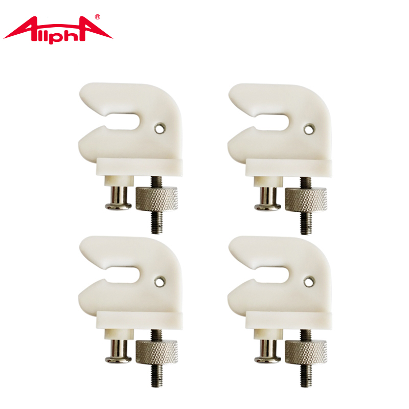 Alpha 1PC Securing Clip White U-shape Supporter For Badminton Racekt Machine Stringer Tools Parts Accessories  ACC-013