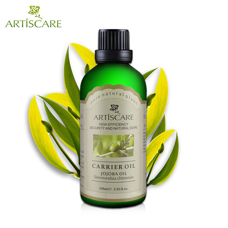 ARTISCARE 100% Natural Jojoba Base Oil 100ml Essential Oil For Moisturize Hydrated Fade Wrinkles Massage Oil SPA Carrier Oil