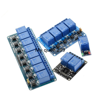 1pcs 12v relay module with optocoupler. Relay Output 1 2 4 6 8 way relay module