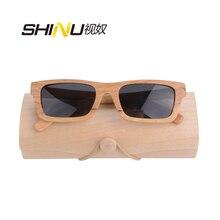 Настоящие мужские деревянные очки Женские квадратные деревянные оправы поляризованные очки для вождения Модные ANTI-UVA/UVB затемнённые очки Lentes De Sol