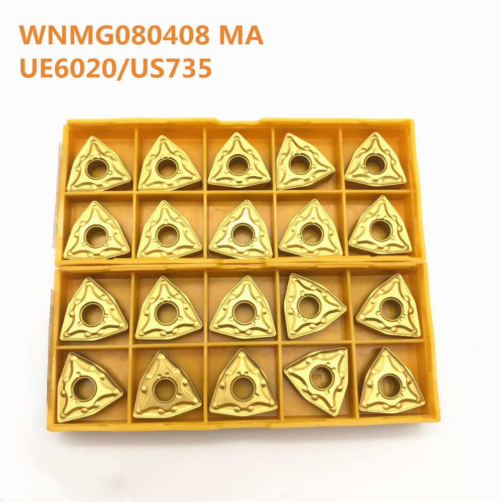 20PCS Carbide Insert WNMG080408 MA UE6020 / US735 External Turning Knife WNMG 080408 Lathe Tool CNC Tool Milling Cutter-in Turning Tool from Tools