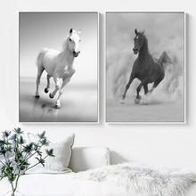 Animals Horse Wall Art Canvas Painting Nordic Posters And Prints Black White Pictures For Living Room Pop Print Decor