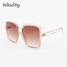 81081 Oversized Champagne Sunglasses Women Ocean Candy Ladies Shades New 2018 Bi